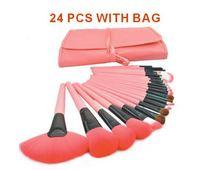 24pcs High quality Original Makeup Professional Makeup Brush Set Kit Makeup Brushes tools Make up Brushes  with a package XM050