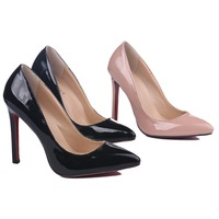 red sole high heels nude pumps 2015 12cm ultra high heels ol pointed toe thin heels pumps fashion sexy candy color hig hee shoes