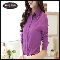 2015 Fashion Women Shirts Spring and Autumn Women's Professional Shirt Slim Long-sleeve Chiffon Basic Shirt Female Work Wear