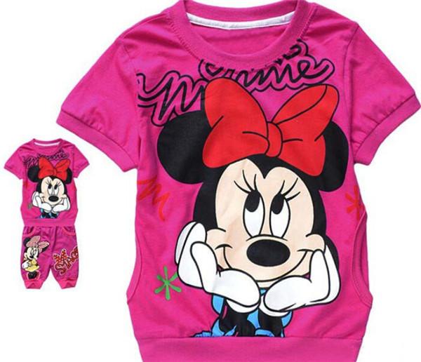 AliExpress.com Product - 2015 Summer Girls Boys M innie Mouse Children Clothing Set Baby Clothes Short-Sleeve T-Shirt Hoodies Short Pant Kids Suit Z084