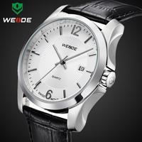 WEIDE new fashion women watch luxury wristwatch analog quartz genuine leather strap date hour clock relogio 30m waterproof watch