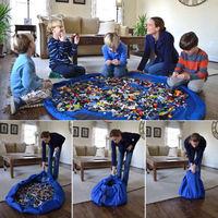 Storage Bag Toys Organizer Rug Box For Lego Dolls 150cm Portable Kids Play Mat