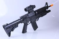 Electric toy submachine gun M16 rifle capable of firing bullets gun soft toy teddy children