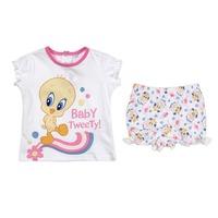 Carters Style Baby Clothing Set Cartoon Tweety Bird Children Wear Clothes For Toddler Girls Summer Cotton Sets Conjuntos CS478