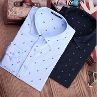 20 Colors 3XL Mens Shirt Slim Fit 2014 New Brand Men's Fashion Long-sleeve Casual Shirts Men Pattern Camisa Masculina Z1249