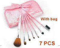 Choose fashion lady Sequins 7 PCS Face Cosmetics Makeup Brushes Set Make Up Brushes Eyeshadow Free Shipping XM050
