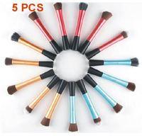 5 pcs a set Waistline brushes flat foundation foundation makeup flat shaped brush long tubes Kit Blush Brush XM050