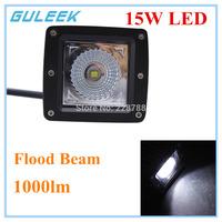 15W 1000lm 6000K 1-Cree LED Square Fog Light  for Off Road 4x4 , Motorcycle Boat ATV Flood 12V