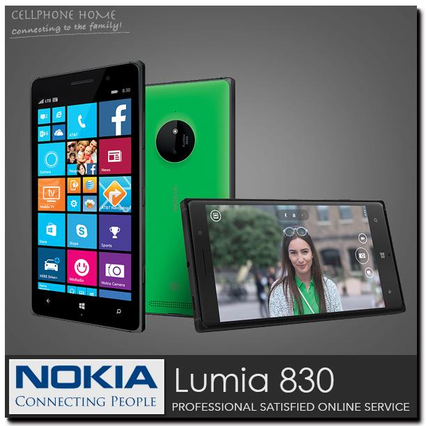 "nokia 830 Original phone NOKIA Lumia 830 Windows Phone 8.1 unlocked Quad Core 5.0"" 1GB-RAM ROM 16GB 10.0MP Wifi 3G cell phone(China (Mainland))"
