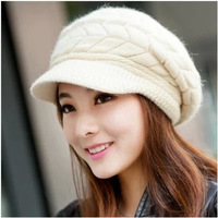 2015 New Women Hat Winter Beanies Knitted Hats For Woman Rabbit Fur Cap Autumn And Winter Ladies Fashion Knitted cap