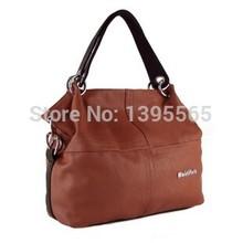 2015 HOT Item Women Handbag PU Leather bags women messenger bag Splice grafting Vintage women bag
