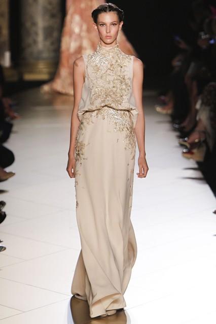 elie saab Haute Couture stehkragen lange abendkleider kleid von partei ...
