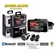 Steelmate DIY TPMS-8886 Cigarette Lighter and iPhone MFi Smartphone  Wireless External Sensors Tire Pressure Monitoring System