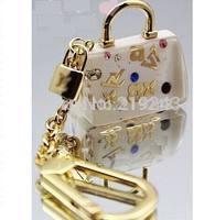 Exquisite fashion & Unique Creativity Brand Bag Charm , Transparent Bag Key chain for Female. Free Shipping