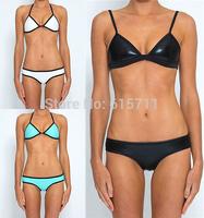 2014 Newest  Super sexy Swimsuit Padded Top and Bottom Swimwear Neoprene Bikini Set Neoprene Swimwear 6 Colors