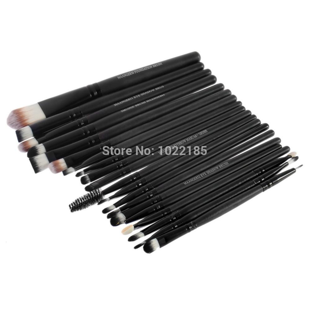 New Professional 20 Pcs Cosmetic Makeup Brush Set, Foundation Eyeshadow Eyeliner Lip Make Up Brushes(China (Mainland))