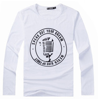 Hot Spring And Autumn 2015 New Men's Fashion Casual Sports Letters Printed Long-sleeved t-shirts , Men's Pullover TX0020