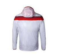 14 15 New Thin Thailand Quality Germany Soccer Jacket Sport Anthem Dust Wind Coat Training Thailand Nation Team Hoodie White