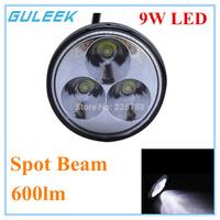 9W 600lm 6000K 3-Epistar LED Round Working Light For Off Road 4x4 , Motorcycle Boat  ATV Flood 12V