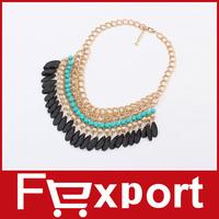 Bohemian Tassels Drop Vintage Gold Choker Chain Necklaces & Pendants Fashion Jewelry For Woman, 477