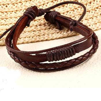 Новинка горячая распродажа мода 100% ручной работы кожаный ремешок браслет цепочка ...