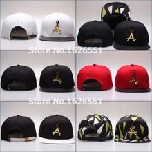 12 colors Tha Alumni cap leather visor zebra Gold metal A logo hip hop adjustable Strapback hat