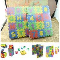 2015 New Arrival Hot Selling 36pcs Colorful Puzzle Kid Educational Toy Alphabet A-Z Letters Numeral Foam Mat Mini Size JE377
