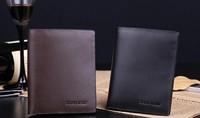 Man purse Male brief paragraph leather authentic wallet