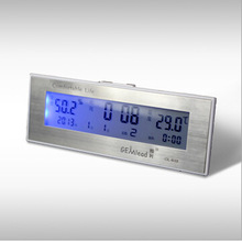 High End Wide Digital LCD Indoor Smart Thermometer Hygrometer Clock Calendar Humidity Meter Thermometer Dropshipping