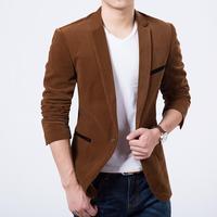 New Arrival Men's Spring Casual Blazers Stylish Slim Corduroy Blazer Men Fashion Suit Jacket Hot Sale
