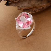2015 caldo poco costoso argento anelli di fabbrica oem formato degli stati uniti 7 8 9 archivio all'ingrosso rosa d'argento stmped 925 spedizione gratuita  (China (Mainland))