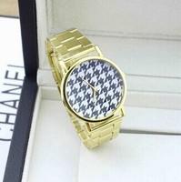 Fashion Individuality Golden Band Watch Women Dress Quartz Watches  Woman Geneva Brand Watch 2015 New Clock Free Shipping