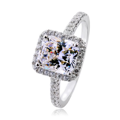 Nep Diamanten Ring Zilveren Diamanten Ring