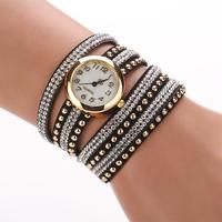 Famous Luxury Brand For Women watch Fashion Leather Quartz Ladies Hour Rhinestone Love Chain  Wrist Watches Bracelet XR747