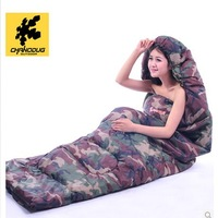 High quality ultralight camouflage cotton filling camping sleeping bag