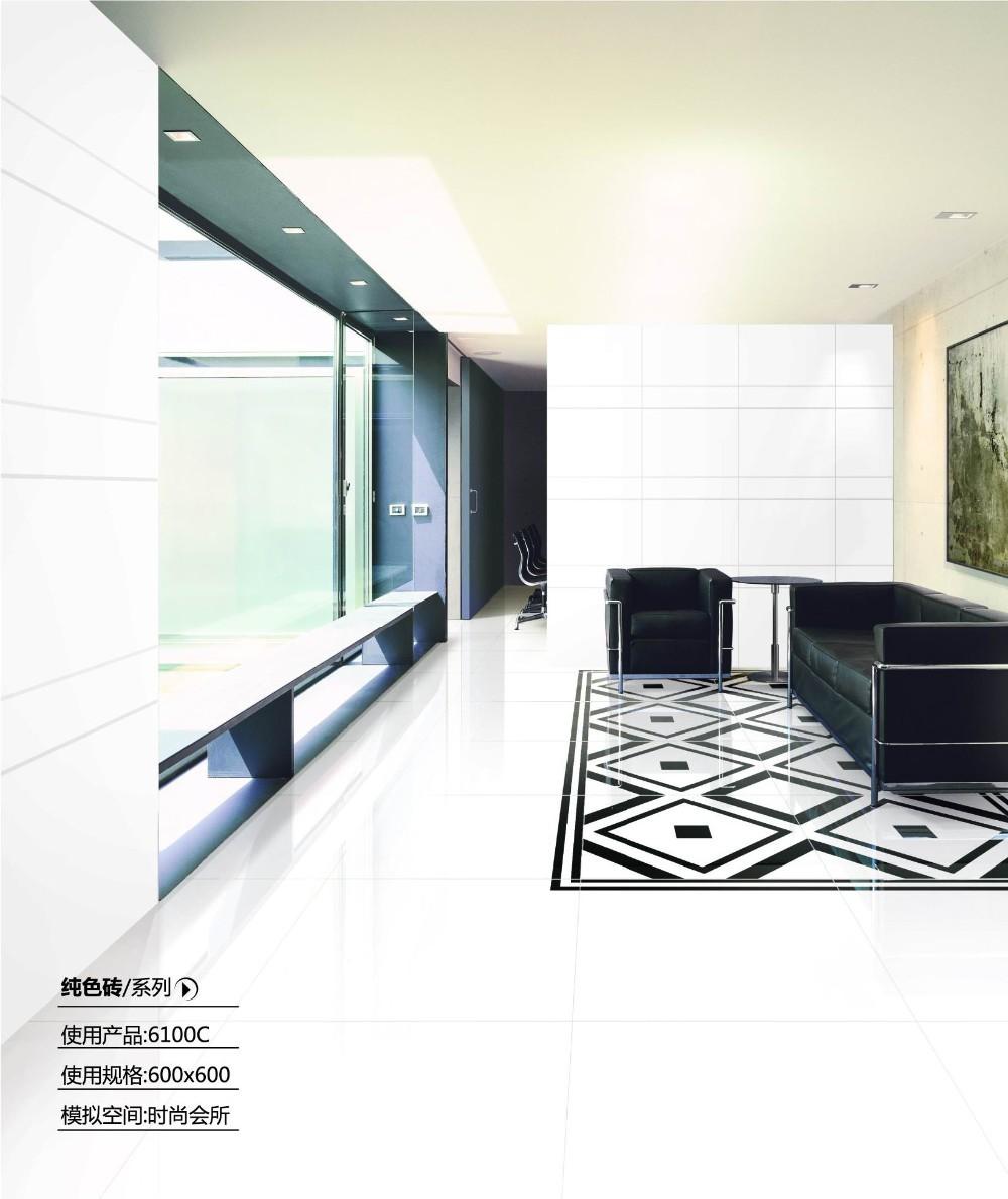 2015 Porcelain Polished Floor Tiles with nano 800X800MM LuBan Super Black H8010