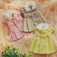 Cute Sugar Dress 3colors for BJD Girl 1/6 YOSD Luts DOD AS DZ Doll Clothes