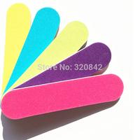 10 pcs Nail polish tools short nail polish file crystal Professional Nail Files Buffer candy color Slim Crescent Grit Sandpaper