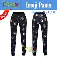 2015 Newest Emoji Joggers Pants Jogger Sweatpants Trousers Cartoon Outfit Harem Pants Women Trousers Free Shipping