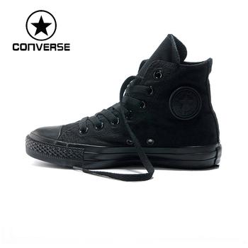 Конверс 100% оригинальный скейтборд обувь мужчин и женщин обувь Converse черный кроссовки все звезды обувь бесплатная доставка