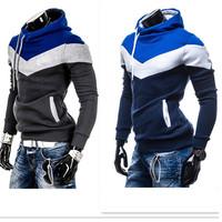 Hot Selling Men Casual Sweatshirt Man Sportwear Long Sleeve sudadera hombre Pullover Fleece Hoodie Patchwork Tracksuits ay852930