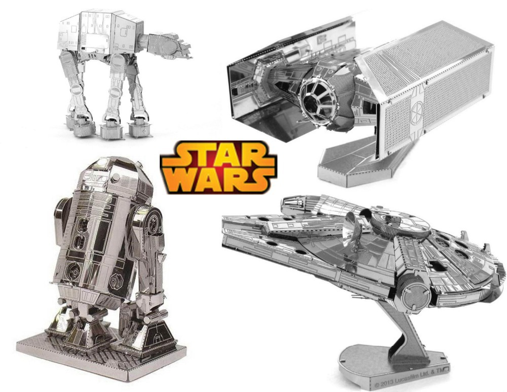 Hot Sale puzzle 2015 Star Wars 3D metal puzzle toys for children not wooden toys free shipping world Spain USA Brazil Russia(China (Mainland))