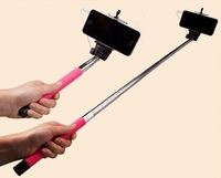 Extendable Monopod Audio Cable Wired Selfie Stick Handheld Phone Holder For iPhone Andriod Smartphones