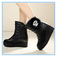 Rhinestone Fashion Winter Boot for Women Flat Non-slip Female Boots Mauri Short Boots Keep Warm Fashion Casual Boots