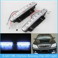 2X Car 8 LED DRL Driving Daytime Running Day LED Light Head Lamp Super White  C115