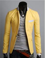 High Quality Sport Man Jackets 2014 New Fashion Splice Zipper Outerwear Men Brand Jacket Coat men Splice color thin jacket   60