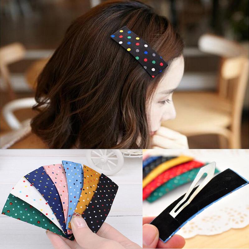 Hot Sale Fashion Girls Cute Dot Hair Accessories Womens Multicolor Hair Clips Girl Barrette Ponytail Holder Sweet Headwear(China (Mainland))