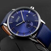 SKMEI 9083 Luxury Brand Watches Male fashion casual quartz watch Classic genuine Leather Strap men wristwatch Relogio Masculino
