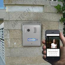 Freeshipping, DIY Wifi IP Video door phone, remote door access by you iphone, andriod smartphone, wireless video door phone