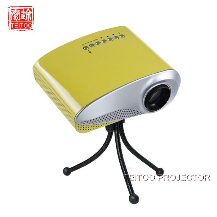 Brand New Yellow Mini LED Portable Digital Weightlight Cheap Projector, USB SD AV TV HDMI VGA,Free Shipping Projects,Home Supply(China (Mainland))